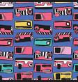 memphis eighties stylized retro cassette tape vector image