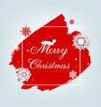merry christmas poster with blobs isolated grey vector image vector image