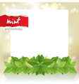 mint border vector image vector image