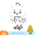 numbers game education game for children chicken vector image vector image