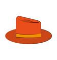 orange hat icon image vector image vector image