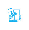 project work linear icon concept project work vector image vector image