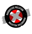 Radioactive Pollution rubber stamp