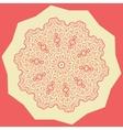 Red Mandala Print vector image vector image
