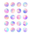 rounded holographic foil button vector image vector image