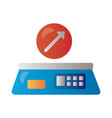 scale measure with arrow up infographic degradient vector image vector image