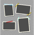 scrapbook photo on transparent vector image