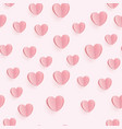 seamless heart pattern ideal for valentine day vector image vector image