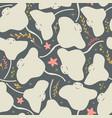 Seamless pattern with underwater ocean animals