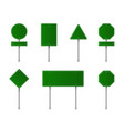 set green road signs blank traffic signs vector image vector image