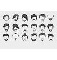 Set hair mustache beard