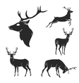 Set of black forest deer silhouettes Suitable for vector image vector image