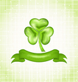 Shamrock with ribbon for Saint Patrick day vector image vector image