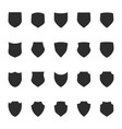 shield protection icons collection silhouette vector image vector image