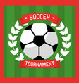soccer club ball laurel sport tournament vector image