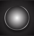 stylish circle object with shiny metallic border vector image