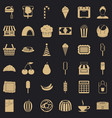 tasty dessert icons set simple style vector image vector image