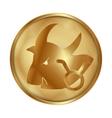 Taurus gold medallion drive vector image vector image