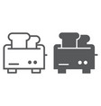 toaster line and glyph icon appliance and vector image vector image