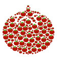 tomato vegetable composition of tomato vector image vector image