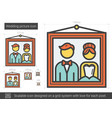wedding picture line icon vector image vector image