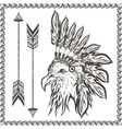 American Eagle in ethnic Indian headdress vector image