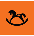 Rocking horse ico vector image