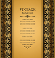 antique vintage card victorian gold ornament vector image