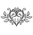 Deco Floral Heart vector image