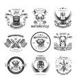 motorcycle or bikers club logo templates vector image