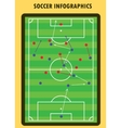Soccer match infographic elements Flat design vector image