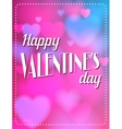 Vintage Valentines Day type text calligraphic vector image