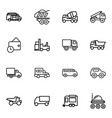 16 truck icons vector image vector image