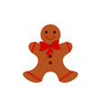 a christmas cookies in the color icon vector image vector image