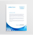 abstract blue modern letterhead design vector image vector image