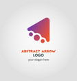 abstract business logo template with color vector image vector image