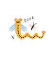amusing monster alien or snake with wings lovely vector image vector image