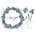 beautiful frame with irises vector image