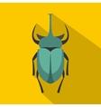 Big beetle icon flat style vector image