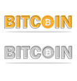bitcoin logo with its icon and logo isolated on vector image vector image