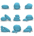 Blue rock style elements vector image vector image