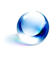 blue shiny sphere vector image