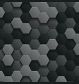 blur hexagons 3d abstract background vector image
