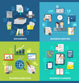 business items composition set vector image vector image