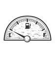 car fuel gauge empty tank indicator sketch vector image vector image