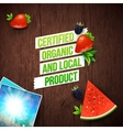 Certified Local Organic Products vector image