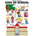 Children learning at school vector image vector image