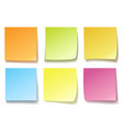 colorful memo isolated on white vector image