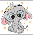 cute elephant isolated on a white background vector image