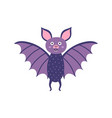 cute little bat cute vampire bat character in vector image